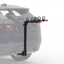 Homcom Portabicicletas de Bola Plegable Para 3-4 Bicicletas En Trasero de Coche Tipo Portabicis Con Enganche y Correas Carga 100Kg - Color: Negro