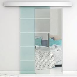 Homcom® Puerta Corredera Cristal Puertas de Interior Puerta de Granero 75X210Cm<br> - Color: No