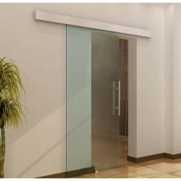 Homcom Puerta Corredera de Vidrio Cristal Translúcido de 205X90 Cm<br> - Color: Translúcida