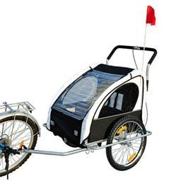 Homcom Remolque Para Bicicleta Blanco y Negro Acero Oxford 122X90X106Cm<br> - Color: Blanco y Negro