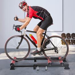 Homcom® Rodillo de Ciclismo Ajustable Rodillo de Entrenamiento Para Bicicleta Universal Interior<br> - Medidas 93-145X54X14.5Cm<br> - Color: Negro y R