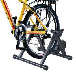 Homcom® Rodillo Entrenamiento Bicicleta Plegable Resistencia Ajustable<br> - Color: Negro