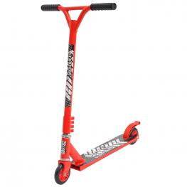 Homcom® Scooter Freestyle Scooter Patinete de Acrobacia Giratorio 360° Rojo  - Color: Rojo