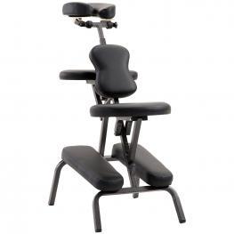 Homcom Silla de Masaje Plegable Portátil Para Fisioterapia Rehabilitación Tatuaje Sillón de Tratamiento Ajustable Con Bolsa de Transporte Acero Carga