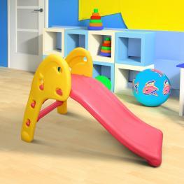 Homcom Tobogán Para Niños de 18 Meses Para Casa O Jardín - Multicolor - Plástico - Máximo 60Kg - 110X54X70 Cm - Color: Multicolor