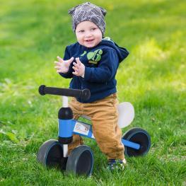 Homcom® Triciclo Bicicleta Sin Pedales Para Niños Mayores de 1 Año Azul 47X19X35Cm<br> - Color: Azul