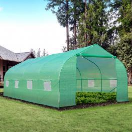 Invernadero de Jardín O Terraza Para Cultivo de Plantas y Semillas - Color Verde - 600X300X200Cm - Color: Verde