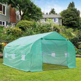 Invernadero de Jardín O Terraza Para Cultivo de Plantas y Semillas<br> - Color Verde<br> - 450X300X200 Cm<br> - Color: Verde