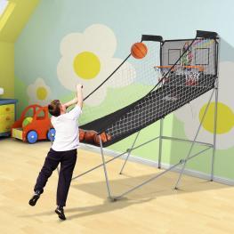 Juego de Canastas de Baloncesto Plegables y Portátiles<br> - Color Negro y Blanco – Acero – 205 X 110 X 205Cm<br> - Color: Negro y Blanco
