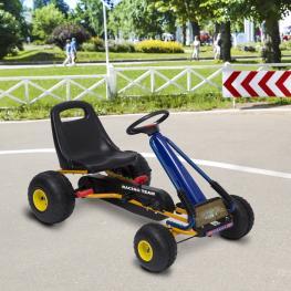 Kart A Pedales Para Niños de 3 A 8 Años<br> - Acero y Plástico<br> - Color Azul y Negro<br> - 96X68X56 Cm<br> - Color: Azul y Negro