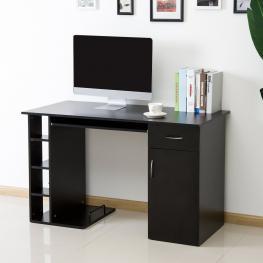 Mesa de Ordenador Pc 120X60X74 Cm Oficina Despacho Escritorio Mobiliario Negro<br> - Color: Negro