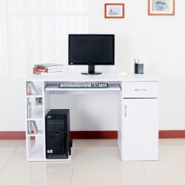 Mesa de Ordenador Tipo Escritorio Para Pc<br> - Color Blanco -Madera<br> - 120X60X74Cm<br> - Color: Blanco