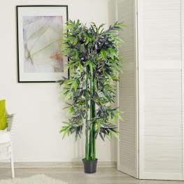 Outsunny® Bambú Artificial 180Cm Planta Sintética Decorativa  - Color: Verde