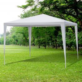 Outsunny® Carpa Impermeable de Jardín Acero Oxford Blanco 3X3M  - Color: Blanco