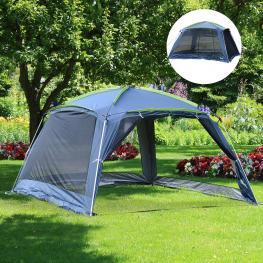 Outsunny Carpa Tipo Avancé Plegable Para Camping  - Azul Oscuro  - Tela Oxford 210D  - 360X355X215Cm  - Color: Azul