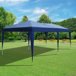 Outsunny Gazebo Pabellón Para Jardín Camping Fiesta Tienda Eventos Boda<br> - Color Azul<br> - 6X3M<br> - Color: Azul