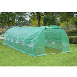 Outsunny® Invernadero Casero Para Terraza O Jardín Acero Polietileno - 8X3X2M - Color: Verde