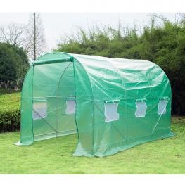 Outsunny Invernadero Caseta Nuevo Verde Acero Plastico 350 X 200 X 200Cm - Color: Verde