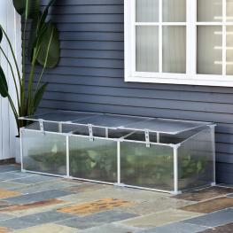 Outsunny® Invernadero de Jardín Aluminio Policarbonato Transparente 180X51X51Cm - Color: Transparente