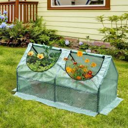 Outsunny Invernadero de Jardín y Terraza Para Cultivo de Plantas<br> - Color Verde<br> - Tubo Acero y Plástico<br> - 120X60X60 Cm<br> - Color: Verde