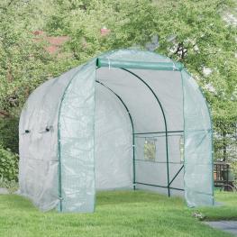 Outsunny Invernadero de Jardín y Terraza Para Cultivo de Plantas - Color Verde Transparente - Acero Polietileno Pe - 250 X 200 X 200 Cm - Color: Verde