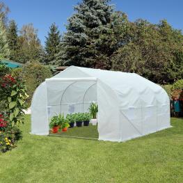 Outsunny Invernadero Plástico Blanco 450X300X200Cm<br> - Color: Blanco