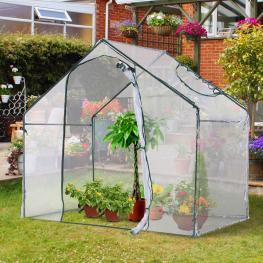 Outsunny® Invernadero Transparente de Jardín Vivero Casero Plantas 180X105X150Cm - Color: Transparente y Verde