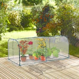 Outsunny Invernadero Transparente Para Jardín O Terraza - Acero, Plástico y Polietileno - 200X100X80 Cm - Color: Transparente