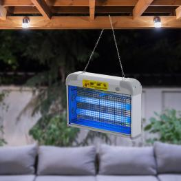Outsunny Lámpara Anti-Mosquitos Lámpara Matamoscas Eléctrica Lámpara Anti-Insectos 20W área 60M² Seguro y Eficaz Con Luz Uv Para Exterior e Interior