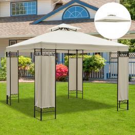 Outsunny Techo Reemplazo Para Carpa Pabellón de Jardín Terraza Aire Libre Exterior  - Color Crema  - Poliéster  - 3X3 M  - Color: Crema