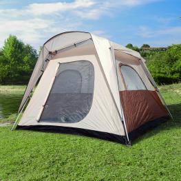 Outsunny Tienda de Campaña Familiar 4-8 Personas Tipo Refugio Para Playa Picnic y Camping Pop-Up Instantánea y Portátil Con Bolsa de Transporte Ventan