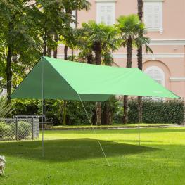 Outsunny® Toldo de Refugio Portátil Impermeable Carpa Tienda de Campaña Grande Para Camping Playa Picnic Protección Solar Verde  - Color: Verde