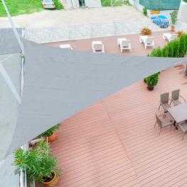 Outsunny Toldo Vela 3X3X3M Triangulo Color Gris Sombrilla Parasol Terraza Jardin Camping<br> - Color: Gris