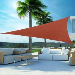 Outsunny Toldo Vela Triangulo Tipo Sombrilla O Parasol Para Terraza Jardín O Camping<br> - Color Naranja<br> - Poliéster<br> - 3X3X3M<br> - Color: Nar