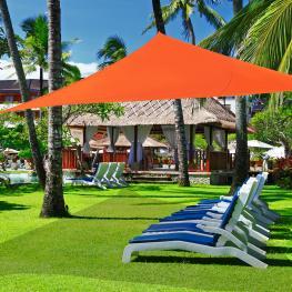 Outsunny Toldo Vela Triangulo Tipo Sombrilla O Parasol Para Terraza Jardín O Camping<br> - Color Naranja<br> - 6X6X6M<br> - Color: Naranja