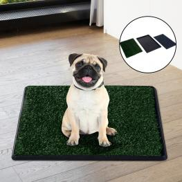 Pawhut® Alfombra Para Perros O Mascotas Césped Artificial Lavable Color Negro Verde Pp Pe Ps 51X76X3 Cm<br> - Color: Verde