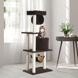 Pawhut® Árbol Para Gatos Rascador Grande Con Plataformas 140Cm Cubierto de Felpa -