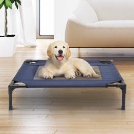 Pawhut® Cama Para Mascotas Perro O Gato Para Exterior Azul y Negro 76X61X18 Cm - Color: Negro