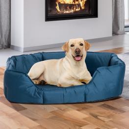 Pawhut Cama Para Perros y Gatos Impermeable y Lavable Tipo Colchón de Tela Oxford Para Mascotas - Color Azul - 90X70X28Cm -