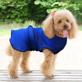 Pawhut® Chaqueta Chaleco de Refrigeración Perro Ropa de Verano Chaleco Para Mascotas Chaqueta Refrescante Perro Espalda 50Cm Poliéster  - Color: Azul