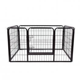 Pawhut® Corral Para Perros Para Exterior e Interior Negro Cuadrado 125X80X70 Cm<br> - Color: Negro