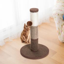 Pawhut® Poste Rascador Para Gato Para Arañar 1 Bola de Juego Marrón 30X30X46Cm - Color: Marrón