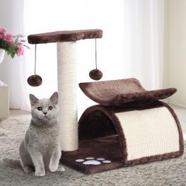 Pawhut® Rascador Para Gatos árbol Rascador Con Bolas de Juego 40X30X43Cm<br> - Color: Marrón