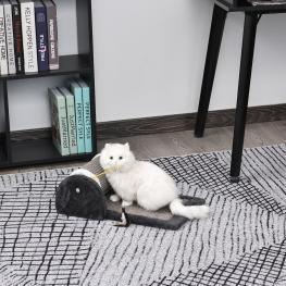 Pawhut® Rascador Para Gatos Juguete de Arañar Gato árbol Rascador Centro de Actividad 45X25X16Cm  - Color: Gris