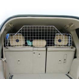 Pawhut® Reja Separadora Extensible de Coche Para Perros y Mascotas Metal y Abs 89-122X41 Cm - Color: Negro y Plata