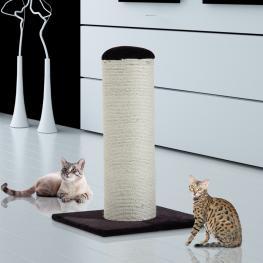 Rascador de Gatos Para Jugar y Arañar - Color Café - Tablero de Partícula, Felpa y Sisal - 50X50X72Cm - Color: Color Cafe