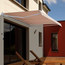 Toldo Aluminio 3X2,5 Metros Brazos Articulado Manivela Parasol Pared<br> - Color: Naranja