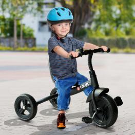 Triciclo Para Niños de Más de 18 Meses €� Color Negro €� Hierro, Plástico y Tela €� 74 X 49 X 55Cm - Color: Negro