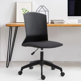 Vinsetto® Silla Oficina Silla de Escritorio Altura Ajustable y Giratorio 360° 60X60X87-97Cm - Color: Negro