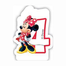 Vela 4 Cumpleaños Minnie Disney Cafe